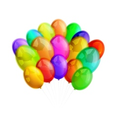 Multicolor balloons on white background vector image