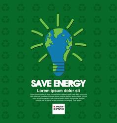 Save energy conceptual vector image