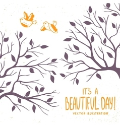 silhouette of branches vector image vector image