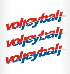 Volleyball logo volleyball word text vector image vector image