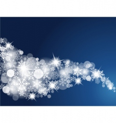 winter snowflake background vector image vector image