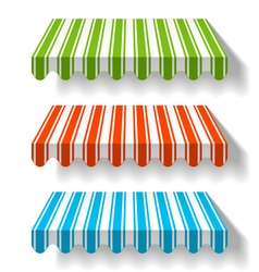 colored awning vector image
