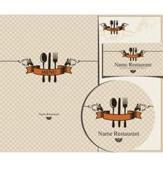 design for cafe vector image