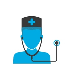 Doctors blue icon vector image