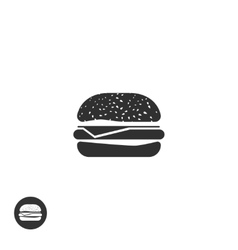 Hamburger icon isolated burger pictogram vector image vector image