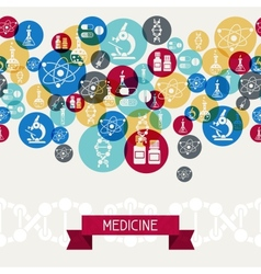 Medical and health care background vector image vector image