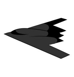 stealth bomber icon icon cartoon vector image