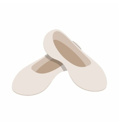 White ballet shoes icon isometric 3d style vector image