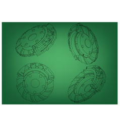 3d model of the brake disc vector image