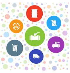 7 diesel icons vector image