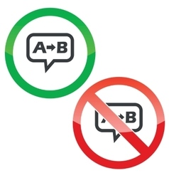 A B message permission signs vector