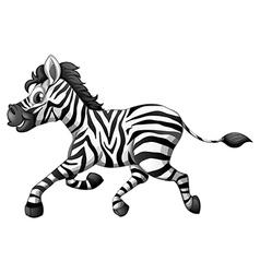 A zebra running vector