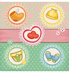 abstract cute lovely baby card vector image