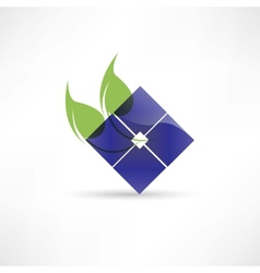 Abstract eco leaf icon vector image