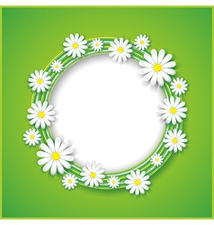 Abstract spring or summer background with flower vector