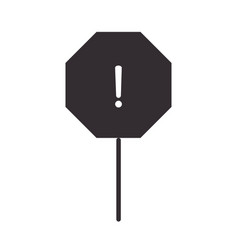 alert icon traffic warning board attention vector image