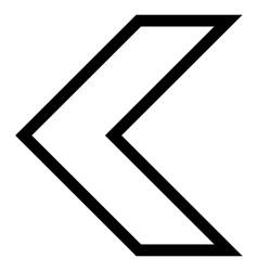 Arrowhead Left Outline Icon vector
