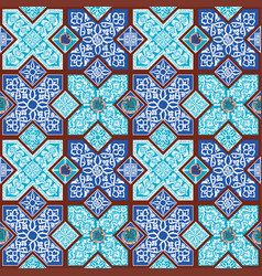 Background with persian patterns vector