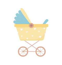 Bashower pram carryage newborn isolated icon vector