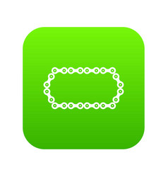 Bicycle chain icon digital green vector