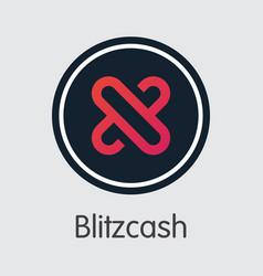 Blitzcash crypto currency coin logo of vector