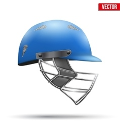 Blue Cricket Helmet Side View vector