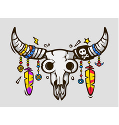 Boho chic ethnic tattoo style native american vector