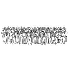 businessmen and businesswomen standing together vector image
