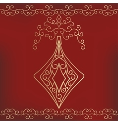 Calligraphic collection of christmas symbols vector image vector image