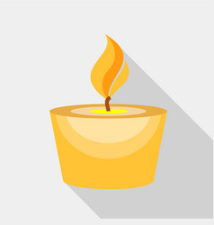 candle icon flat style vector image