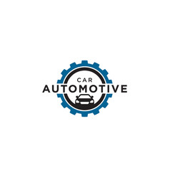 car automotive logo design template vector image