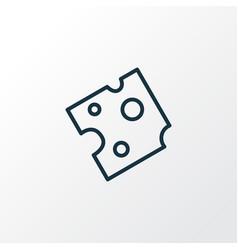 cheese icon line symbol premium quality isolated vector image