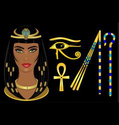 Cleopatra egypt queen vector
