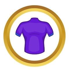 Cycling shirt icon vector