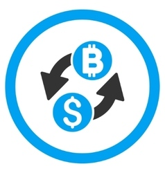 Dollar bitcoin exchange rounded icon vector