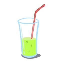 drink in a glass vector image