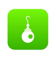 earring icon digital green vector image