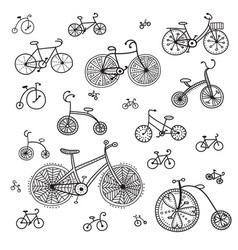 ethnic style bikes set vector image
