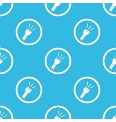 Flashlight sign blue pattern vector
