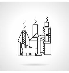 Gas industry building line icon vector