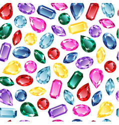 gems background seamless pattern vector image