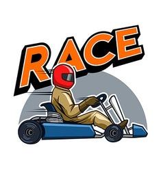 Gokart racer vector