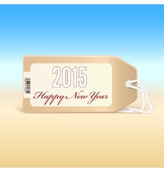 Greeting card with new year 2015 on the price tag vector