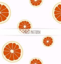 Hand drawn grapefruit Seamless pattern vector
