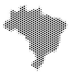 Hex tile brazil map vector