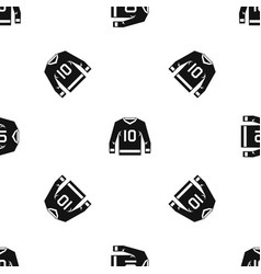 Hockey jersey pattern seamless black vector