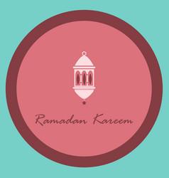 Icon in a flat style ramadan oriental lantern vector