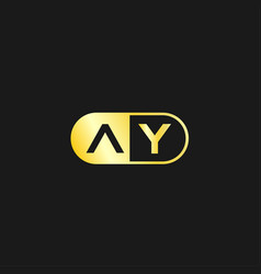 Initial letter ay logo template design vector