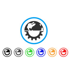 international industry rounded icon vector image
