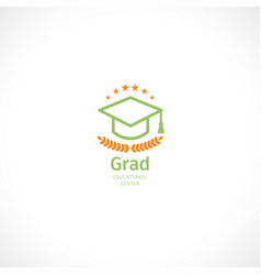isolated abstract orange and green color graduate vector image